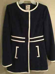 Gorgeous Navy and White Vintage Style Coat London Ontario image 1