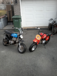 Looking To Buy Old, Small Bikes and 3 Wheelers and mini Bikes