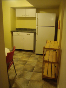 Basement apartment for one person