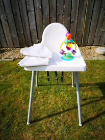 IKEA Antilop Highchair with Tray + Accessories