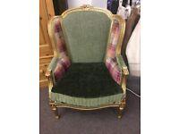 French gilt armchair