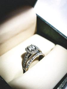 14KT Engagement Wedding Ring Set - 1ct total - $3773 VALUE!!!