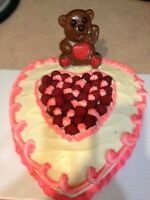 Valentine Heart Cakes......homemade....Order Now