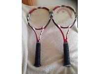 2 identical Head Prestige Microgel Mid plus tennis rackets