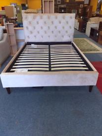 King size Crushed velvet bed frame