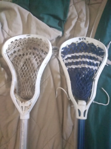2 Lacrosse Sticks