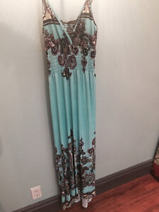 Small to medium long sundress with spaghetti shoulder straps