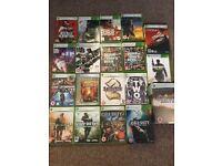 Black Xbox 360, 19 Games, Remote, All Leads