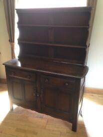 Ercol dark wood Welsh dresser