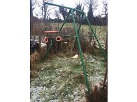 Garden swing and monkey bar