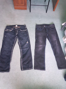 2 pants True religion jamais porter NEGO!