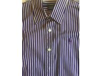 Purple and white pin stripped Ralph Lauren womens shirt.