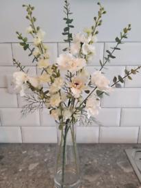 Flower arrangement in a glass vase