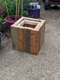 Rustic reclaimed wooden planters