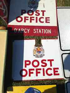 CANADA POST PORCELAIN SIGN - PARKER PICKERS -