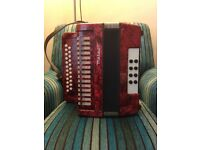 Meteor marble red design Accordion.