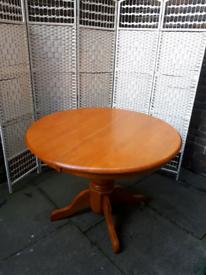 Pine wooden farm house table