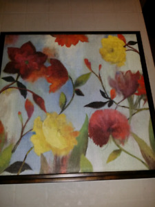 A pair of floral paintings