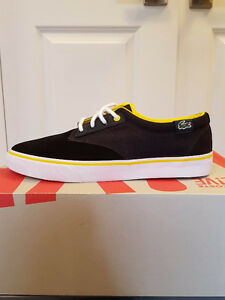 BRAND NEW Mens 9 Lacoste Live Shoes Black/Yellow