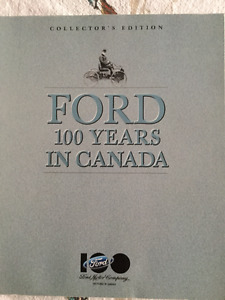 Ford 100 Years In Canada Collector's Edition Book