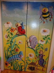 portes pliantes peintes
