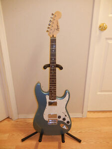 Squier HH Strat Hardtail w/upgrades and gig bag