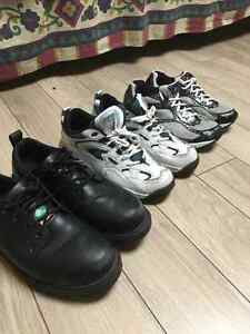 3 Pair of shoes, Black one is Steel toe (CSA Aproved)