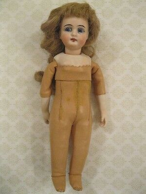"""8 1/2"""" Antique Bisque Head MYSTERY Doll French Fashion type body Mignonette size"""