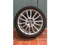 V50 alloy wheel and Pirelli tyre