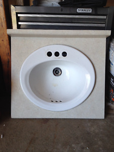 24 inch bathroom sink and counter top