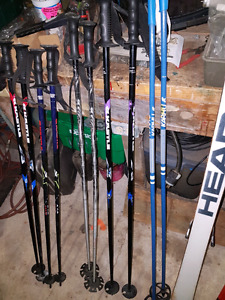 Rossignol, Head, 2 sets of skis and many poles