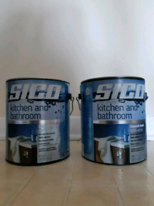 2 Gallons Sico Kitchen and Bathroom Paint