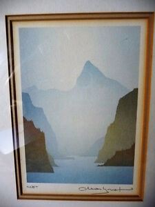 "Mountain Silhouettes by Peter, Traudl Markgraf ""Inlet"" Signed Stratford Kitchener Area image 2"