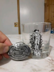 Jack Daniel Glasses and Buckle