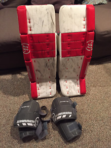 28+1 Warrior G3 Classic Goalie Pads with Knee Pads