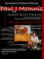 Paul McInnis and special guest, a Guelph Roots presents.