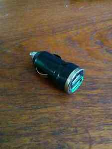 USB car charger - 2.1 Amp dual port cigarette lighter adapter Cambridge Kitchener Area image 2