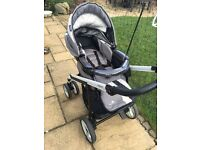 Bebecar pushchair and carrycot system