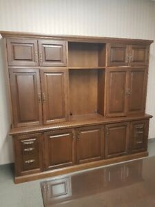 Solid Wood Credenza and Credenza with Hutch