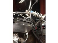 Stainless steel custom made cb100n 1978 engine based on USA flat track archer bike