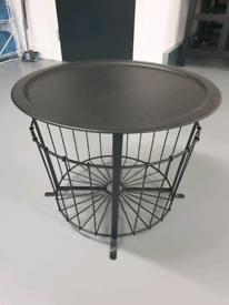 Black IKEA storage table