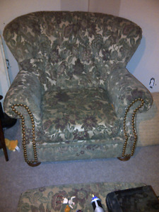 Large chair and footstool