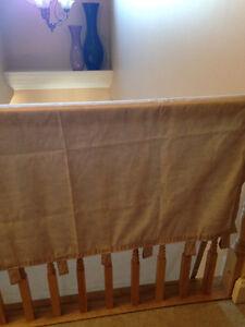 Tab drapes 4 Panels 2 solid and 2 sheer