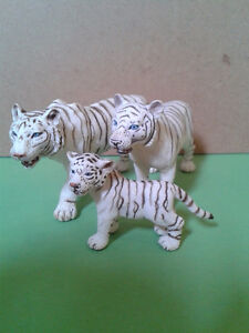 Schleich Toy Collection - White Tiger Family