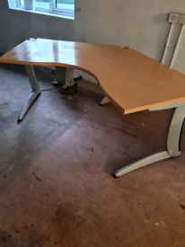 Beech 2 metre steelcase office desks