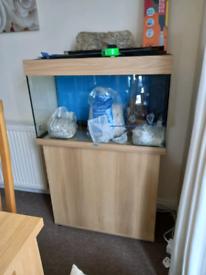 Juwel rio 125 aquarium and beech cabinet, perfect condition