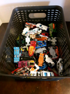 Lot of HotWheel Match Box Toys and Case