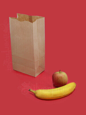 Brown Paper Bags 5 Kraft Lunch Bag Grocery Sack Sandwich Gift Wedding Party