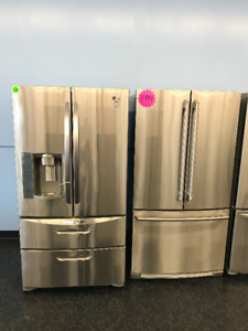 APARTMENT SIZE FRIDGE STOVE STAINLESS STEEL OR WHITE FOR RENTALS