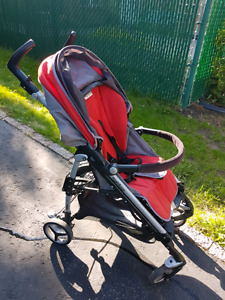 Peg Perego Arcore Si Stroller- red and grey